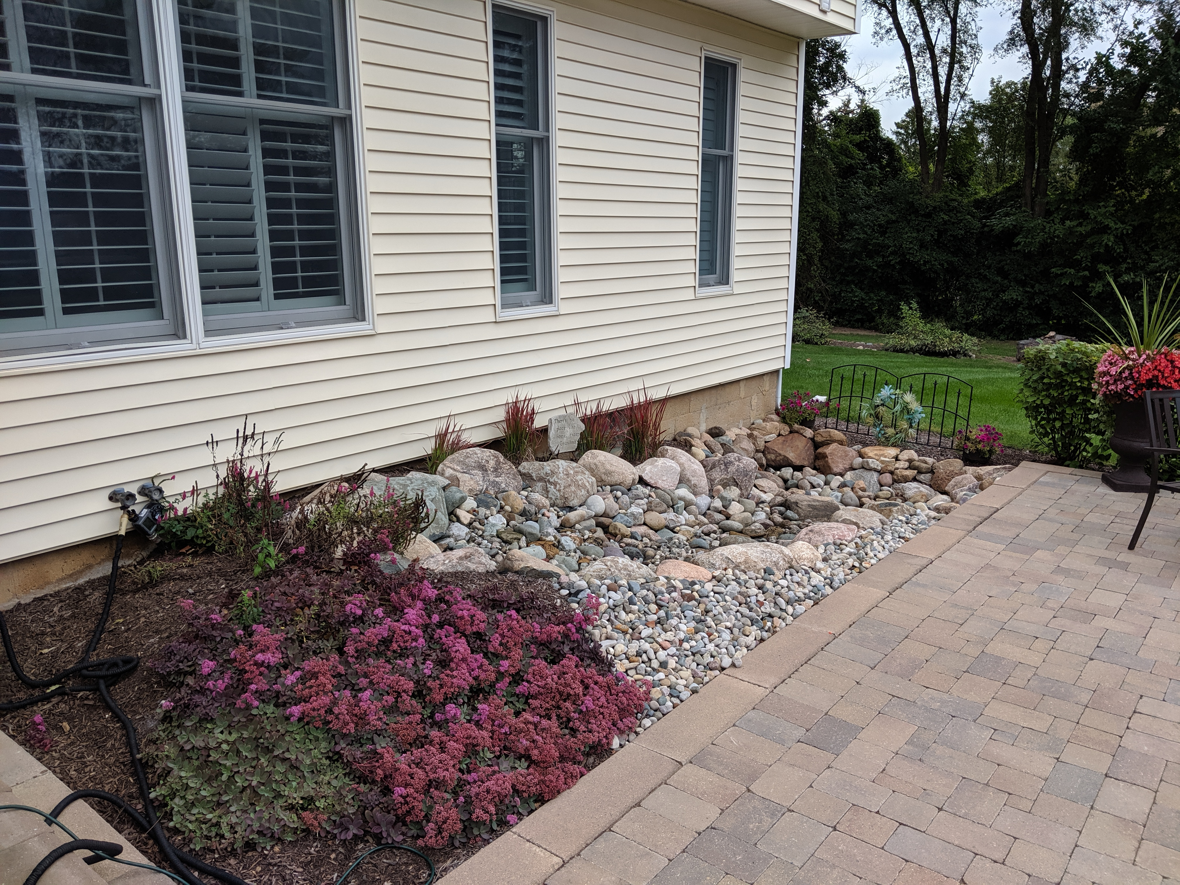 Landscaped Tankless waterfall